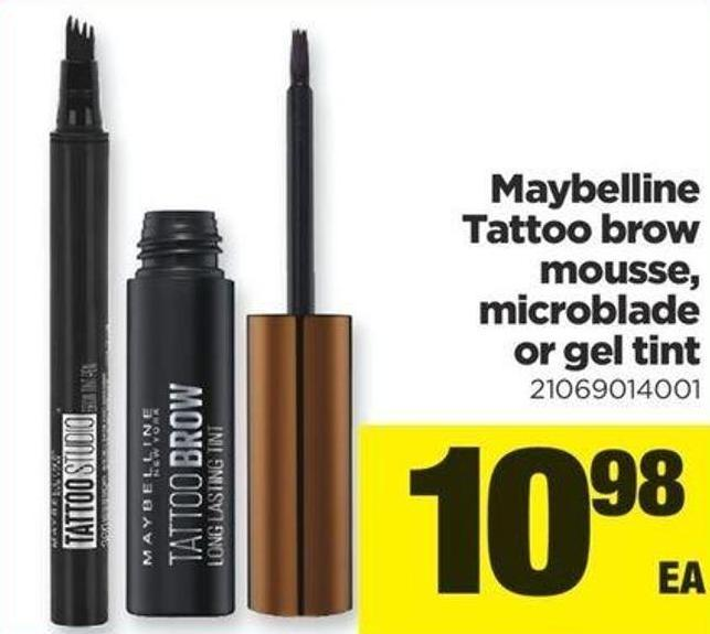 Maybelline Tattoo Brow Mousse - Microblade Or Gel Tint