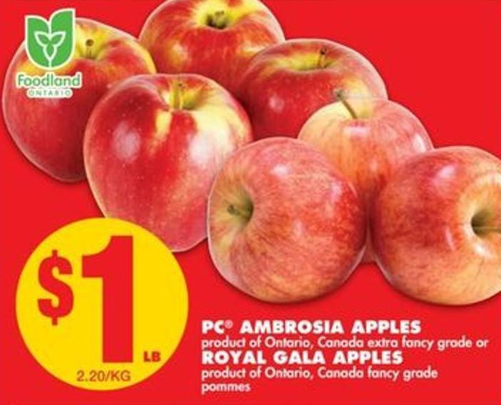 PC Ambrosia Apples Or Royal Gala Apples
