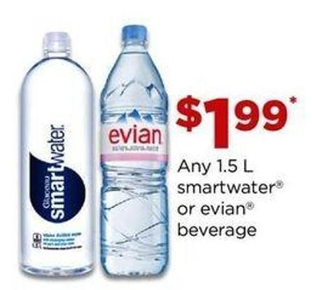 Any 1.5 L Smartwater Or Evian Beverage