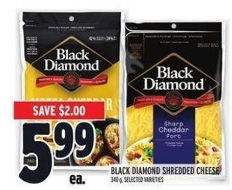 Black Diamond Shredded Cheese - 340 g