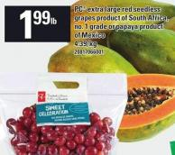 PC Extra Large Red Seedless Or Papaya