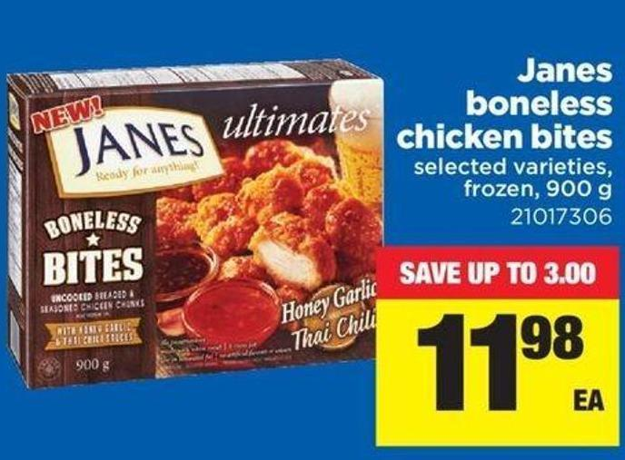 Janes Boneless Chicken Bites - 900 g
