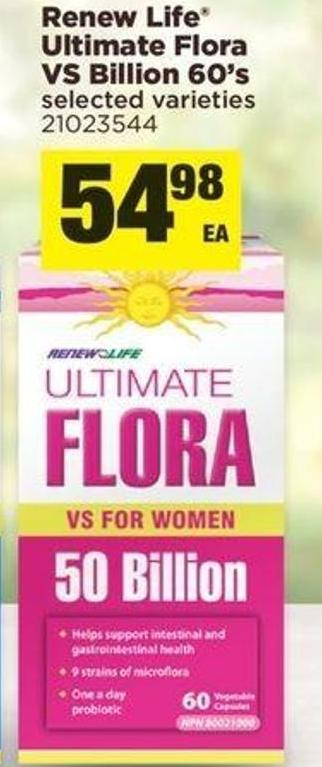 Renew Life Ultimate Flora Vs Billion - 60's