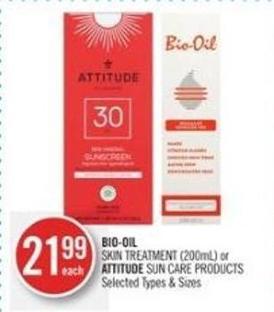 Bio-oil Skin Treatment (200ml) or Attitude Sun Care Products