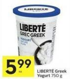 Liberté Greek Yogurt 750 g