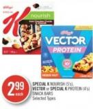 Special K Nourish (5's) - Vector or Special K Protein (4's) Snack Bars