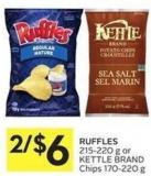 Ruffles 215-220 g or Kettle Brand Chips 170-220 g