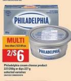 Philadelphia Cream Cheese Product - 227/250g Or Dips - 227 g