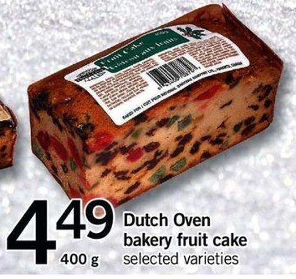 Dutch Oven Bakery Fruit Cake - 400 G