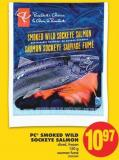 PC Smoked Wild Sockeye Salmon - 150 g