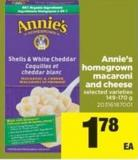 Annie's Homegrown Macaroni And Cheese - 149-170 G