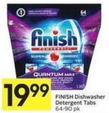 Finish Dishwasher Detergent Tabs 64-90 Pk