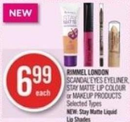 Rimmel London Scandal'eyes Eyeliner - Stay Matte Lip Colour or Makeup Products