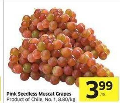 Pink Seedless Muscat Grapes Product of Chile - No. 1 -