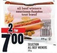 Selection All Beef Wieners