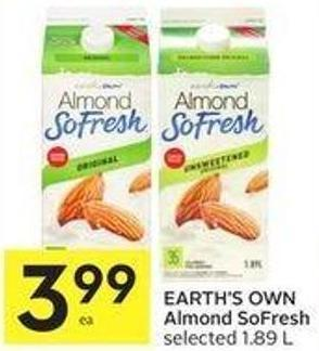 Earth's Own Almond Sofresh Selected 1.89 L