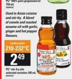 PC Stir-fry Oils - 185 mL