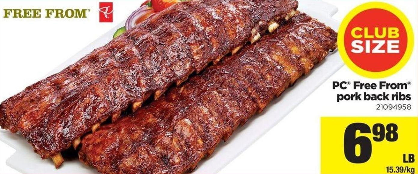 PC Free From Pork Back Ribs.