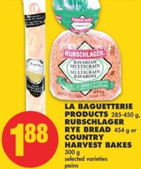 La Baguetterie Products - 285-450 g - Rubschlager Rye Bread - 454 g or Country Harvest Bakes - 300 g