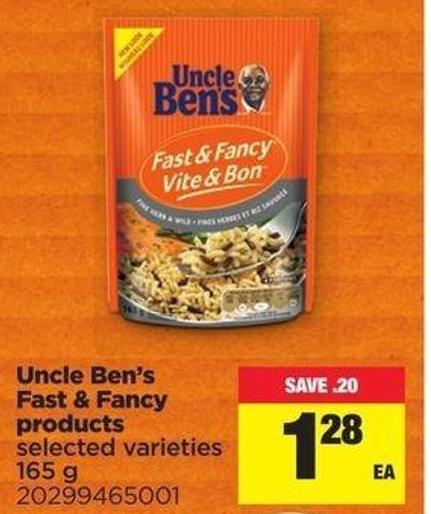 Uncle Ben's Fast & Fancy Products - 165 G