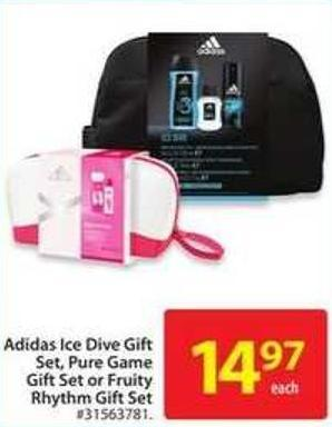 Adidas Ice Dive Gift Set - Pure Game Gift Set or Fruity Rhythm Gift Set