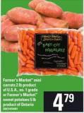 Farmer's Market Mini Carrots - 2 Lb Or Farmer's Market Sweet Potatoes - 5 Lb