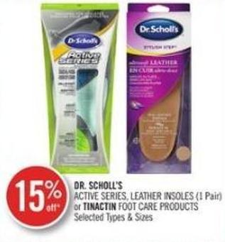 Dr. Scholl's Active Series - Leather Insoles (1 Pair) or Tinactin Foot Care Products