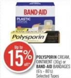 Polysporin Ointment (30g) or Band-aid Bandages (6's - 80's)