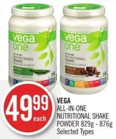Vega All-in-one Nutritional Shake Powder 829g - 876g