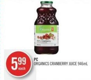 PC Organics Cranberry Juice