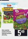 Dole Salad Kit - 234-361 G