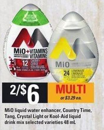 Mio Liquid Water Enhancer - Country Time - Tang - Crystal Light Or Kool Aid Liquid Drink Mix - 48 Ml