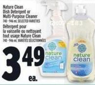 Nature Clean Dish Detergent Or Multi‑purpose Cleaner