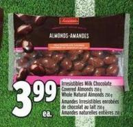 Irresistibles Milk Chocolate Covered Almonds