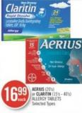 Aerius (20's) or Claritin (15's - 40's) Allergy Tablets