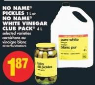 No Name Pickles - 1 L or No Name White Vinegar Club Pack - 4 L
