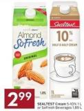 Sealtest Cream 5-10% 1 L or Sofresh Beverages 1.89 L