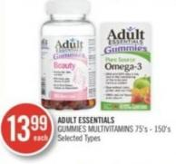 Adult Essentials Gummies Multivitamins 75's - 150's