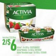 Activa - 8 X 100 G - Activa Mix&go - 3 X 150 G Or Activa No Added Sugar - 8 X 100 G