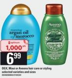 Ogx - Maui Or Aveeno Hair Care Or Styling