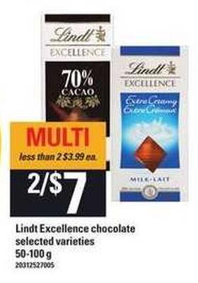Lindt Excellence Chocolate - 50-100 G