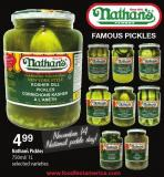 Nathan's Pickles - 750ml/1l