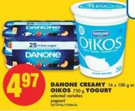 Danone Creamy - 16 X 100 g or Oikos - 750 g Yogurt