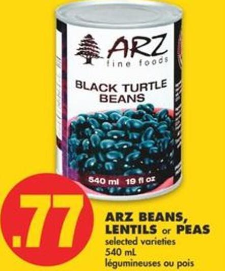 Arz Beans - Lentils Or Peas - 540 Ml