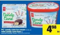 PC Candy Cane Ice Cream - 1.5 mL Or Mini Candy Cane Bars - 6s