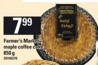 Farmer's Market Maple Coffee Cake - 850 g