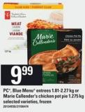 PC - Blue Menu Entrees - 1.81-2.27 Kg Or Marie Callender's Chicken Pot Pie - 1.275 Kg