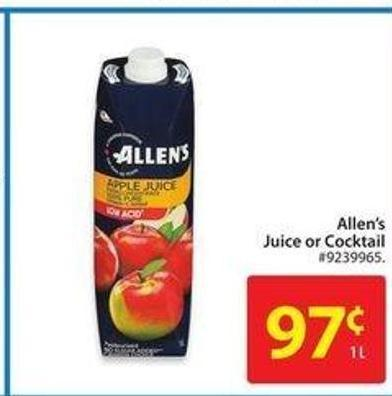 Allen's Juice or Cocktail