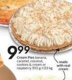 Cream Pies Banana - Caramel - Coconut - Cookies & Cream or Raspberry 910 g
