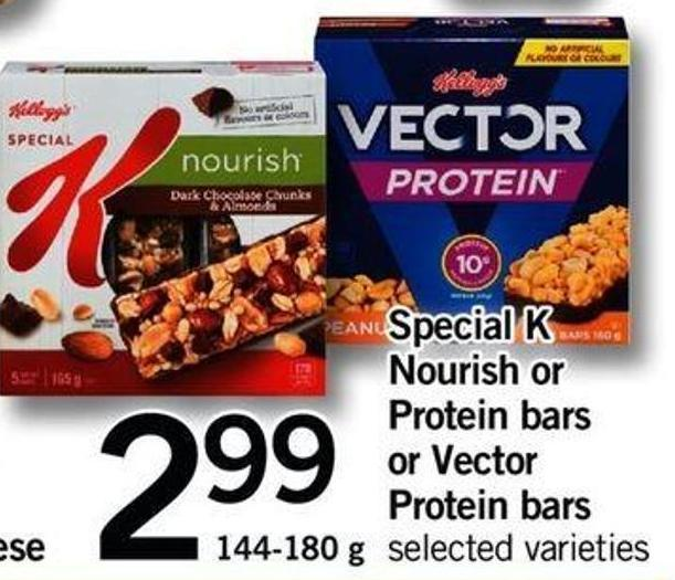 Special K Nourish Or Protein Bars Or Vector Protein Bars.144-180 G